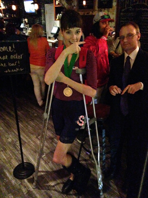 yes i wore spandex shorts to the bar.  sc 1 st  For You to See : halloween costumes with crutches  - Germanpascual.Com