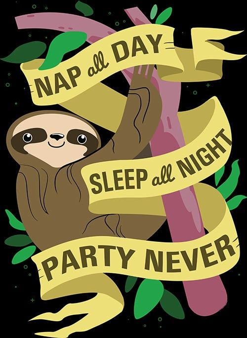 best sloth graphic ever