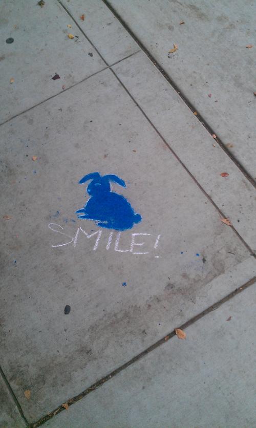 bunny street art sacramento