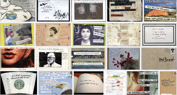 postsecret secrets collage